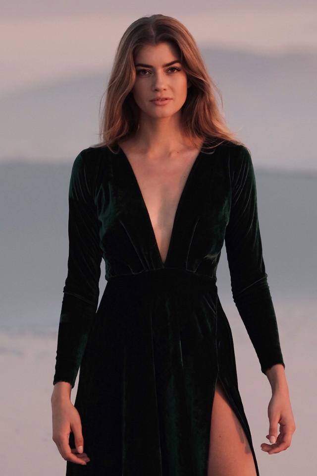 English fashion model Kirsten Ringelmann in Bali
