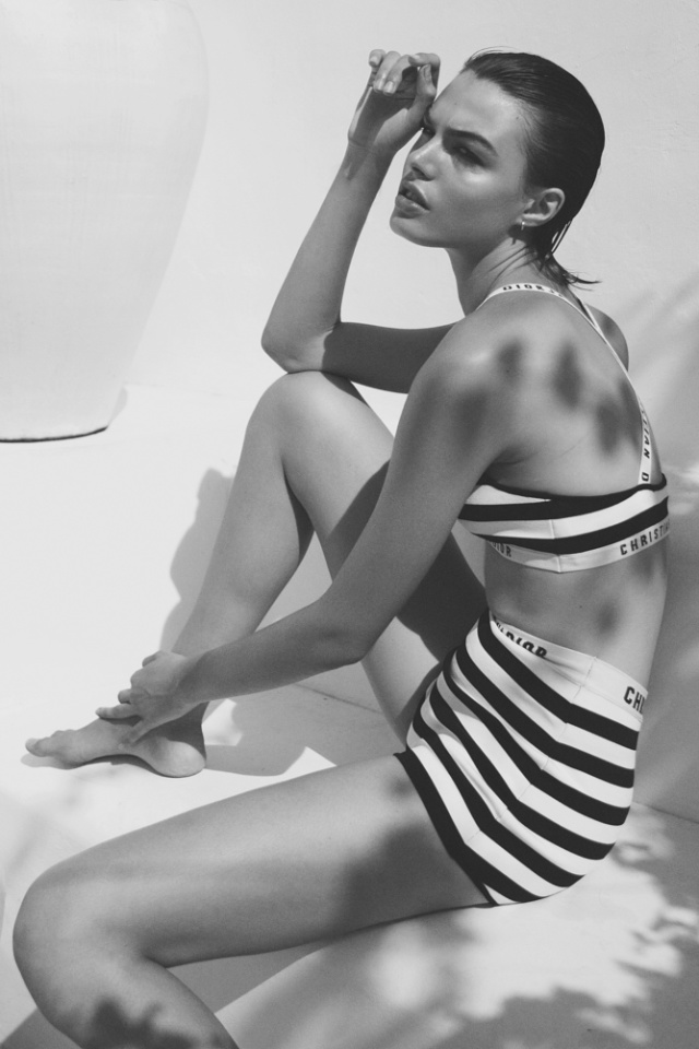 Summer shot by creative team, Anna Elff who model from Castaway Model Management looks incredible stunning
