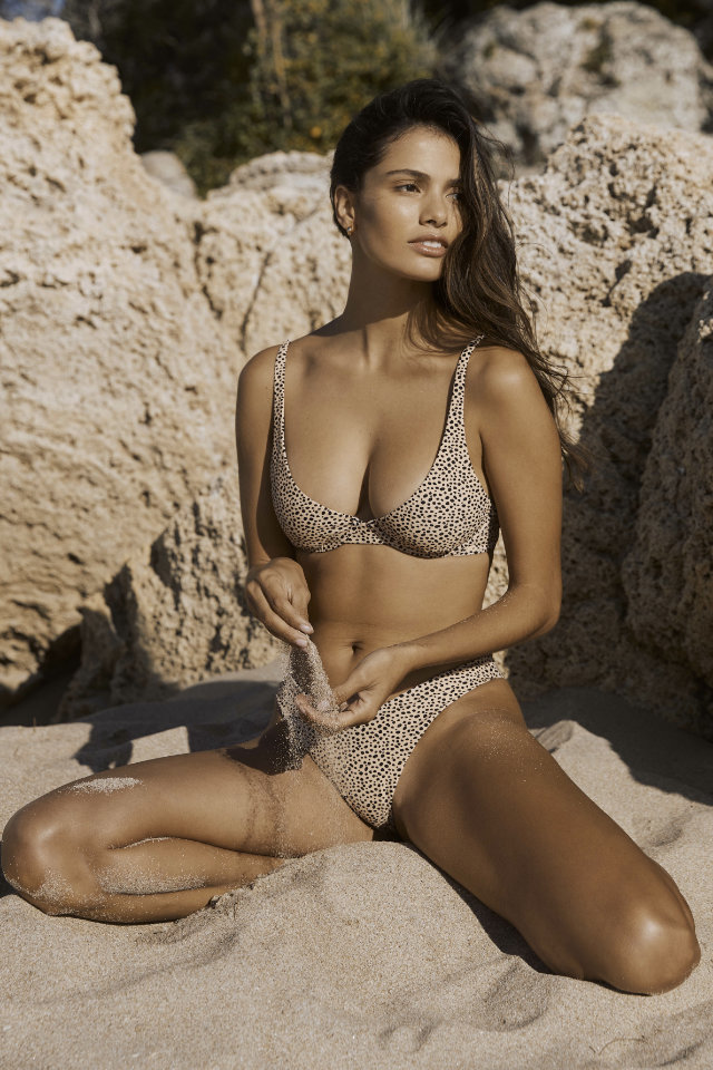 Swimsuit series shot, Nayara Lima from Castaway Model Management do bikini Campaign shot at one open beach in Bali