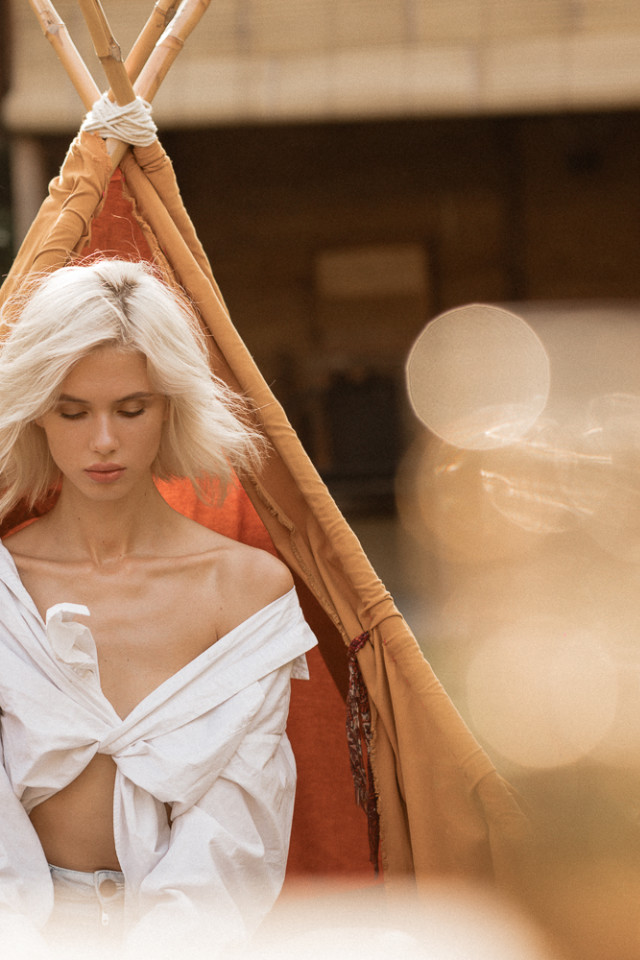 Summer fashion shoot of Russian model Elizabeth. This blonde haired beauty is photographed in Bali, Indonesia