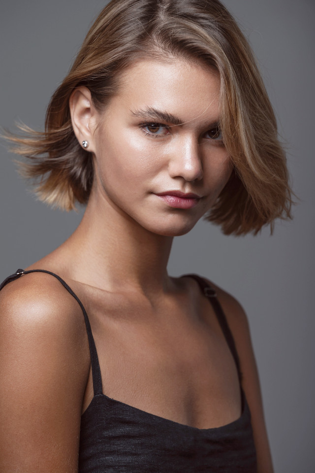 Beautiful fashion shoot with natural look of  Varya Baikova model from Bali modelling agency at Castaway Model Management