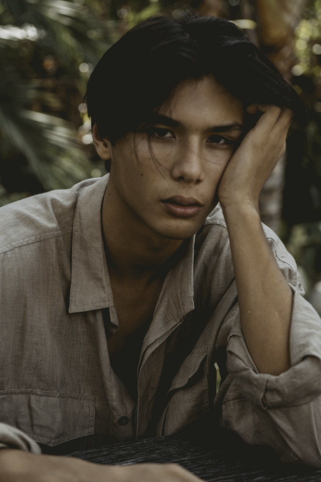 Portrait shot by photographer and also hair make artist Rubben Beeris  Jake Day is represented by Bali's most reputable model agency Castaway Model Management