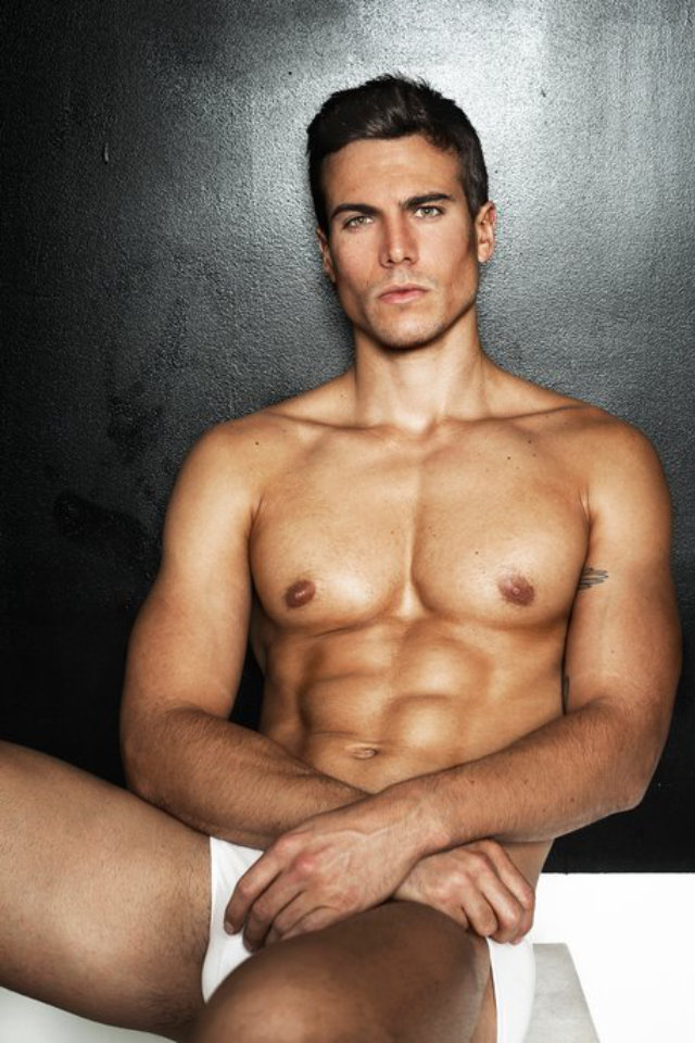 Sports model Samuel Rousseau looks fit and healthy