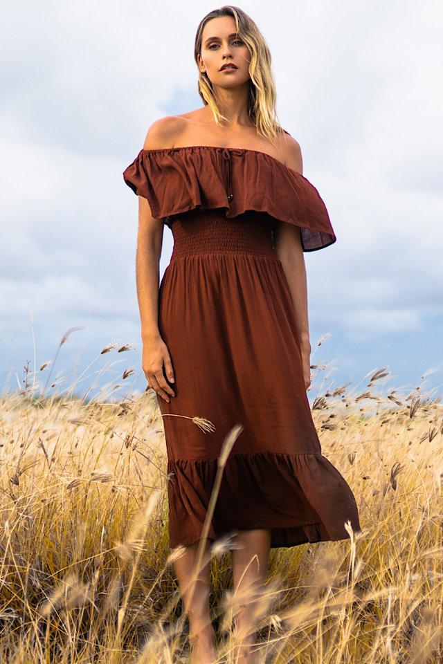 Paula Salort wearing bohemian style