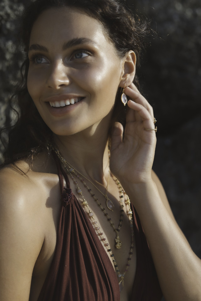 Jewelry shoot of Rosa who represented by Castaway Model Management look shinning