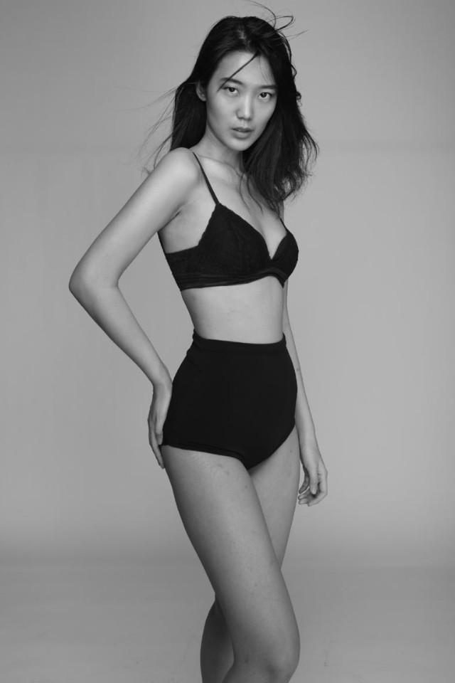 Katharina Reena Luandha wearing black bikini